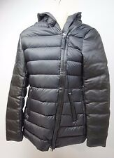 Mackage Black Puffer w/ Leather Sleeves Women's Coat Jacket Size XS Extra Small