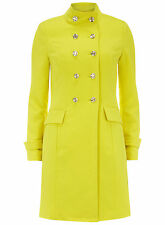 True Decadence Yellow Double Breasted Spring Summer Mac Bloggers Coat UK 16 BNWT
