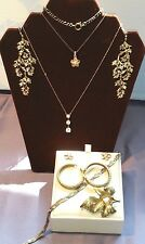 Lot of Sterling Silver Jewelry 925 Gold Plated, Gold Vermeil ~ Plumeria Set
