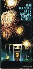1988 Kansas City Royals Baseball MLB Media GUIDE