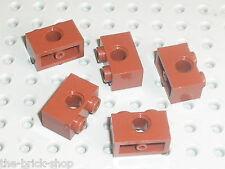5 briques lego technic RedBrown ref 3700 / Set 7094 10213 8877 7261 10194 10188