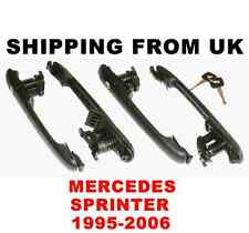 4x DOOR HANDLE LOCK SET FRONT LEFT RIGHT SIDE REAR 1 KEY! for MERCEDES SPRINTER