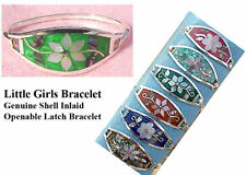 Wholesale Clearance-6 Handcrafted Abalone Shell Little Girl's Hinged Bracelets