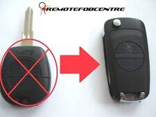 2 button flip key case upgrade for Nissan Almera Primera X-trail remote 3.7cm