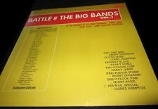 Battle of the Big Bands volume 1 vintage Bright Orange LP record vinyl album