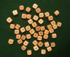 Bulk Wholesale lot of 200 Wooden Dice with 2 Bags (set, 12mm d6, numerals, wood)