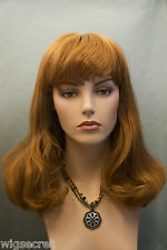 Strawberry Blonde Red Long Medium Skin Top Straight Wigs