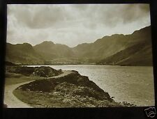 Glass Magic lantern Slide NORTH WALES LLYN CRAFNANT  C1913 WALES
