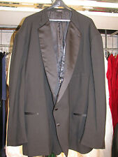 VINTAGE MENS BLACK TUXEDO JACKET BUTTON 2 NOTCH LABEL LAPEL 72R