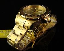 NEW MEN INVICTA S.S. 18K GOLD PLATED GRAND DIVER - 24 JEWEL AUTOMATIC -GOLD DIAL