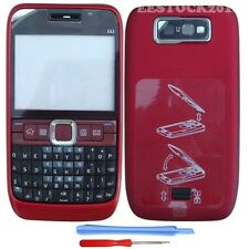 New Red Full Housing Fascia Faceplate Case Cover Keypad + Tools for Nokia E63