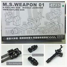 Full Detail M.S. Weapon 01 Heavy Gatling Gun Missile Launcher Plastic Model Kit