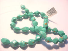 34 Stabilized Turquoise Stone 12-13mm Nugget Beads