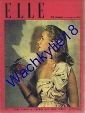 Elle n°52 du 21/11/1946 ouvrière gantière doyenne de Belgique mode fashion
