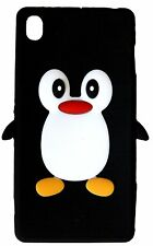 Black Silicone Penguin Phone Case / Cover for Sony Xperia Z3