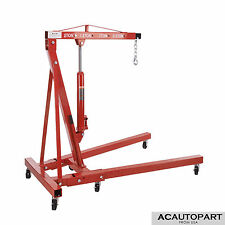 2 Ton Foldable Hydraulic Engine Hoist Shop Crane Jack Lift  Heavy Duty 4400 LBS