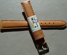 ZRC Made in France Honey Natural Calf 14mm Watch Band Gold Tone Buckle $21.95