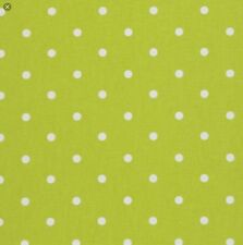 Oilcloth fabric, PVC coated, Lime Green Spot design, Per Meter, superb quality