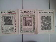 lot 3 revues LA RACONTOTTE nature et traditions Franc Comtoises n° 57 59 60 tbe