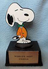 "SNOOPY WORLD'S BEST FRIEND 5"" FIGURE STATUE TROPHY, Peanuts Charlie Brown Aviva"