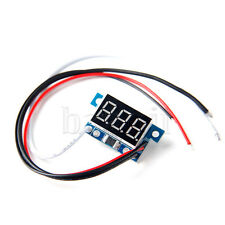 "35*19*10mm Mini Ammeter Meter 0-5A Red LED 0.36"" 3-Digital Panel  MA"