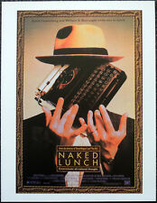 NAKED LUNCH 1991 FILM MOVIE POSTER PAGE . WILLIAM S BURROUGHS . N16