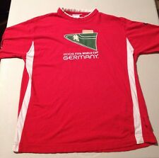 2006 FIFA World Cup Germany Red Soccer Football Small S Short Sleeve T-shirt