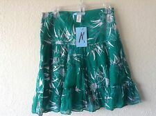 NWT $98 Marciano Guess Emerald Teal 100% Silk skirt -