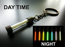 GLOWS NON STOP FOR DECADES!! Tritium Key Chain / Keyring / Glow In The Dark PINK