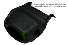 GREEN STITCH STEERING WHEEL SHROUD SKIN COVER FITS LAND ROVER DISCOVERY 1 89-94