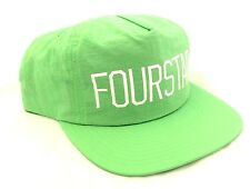 Fourstar Green Nylon 5 Panel snapback Cap hat - one size