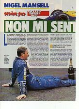 W15 Ritaglio Clipping 1992 Formula 1 Nigel Mansell Non mi sento scarico