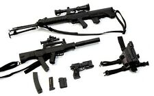 "1/6 Scale Black Sniper Rifle Pistol Gun Model Toy F/12"" Action Figure Collection"