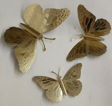 Brass Butterfly Wall Hanger Decorations Studded