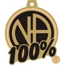 """Narcotics Anonymous Recovery Key chains NA 100% Key Tag 1 1/4"""" X 1 1/4"""" BK & G"""