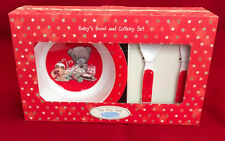 ME TO YOU BEAR TINY TATTY TEDDY BABY'S CHRISTMAS BOWL & CUTLERY SET GIFT