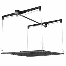 RACOR Storage RACK, Black Pro Heavy Steel Lift GARAGE STOCK RACK, PHL-1R