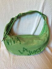 Juicy Couture Green 'Viva La Juicy' Metal and Leather Purse Pre-Owned