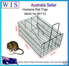 Humane Rat Trap Cage Live Animal Pest Rodent Mice Mouse Control Bait Catch-94112