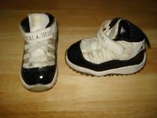 NIKE JORDAN 11 RETRO (TD) TODDLER 378040-107 Shoes Size 5 C L@@K !!! WHITE BLACK