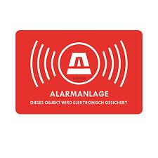 Aufkleber Alarmanlage Alarm Warnaufkleber Dummy Warnung