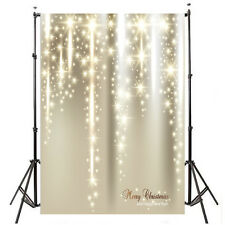 3x5ft Bling Bling Merry Christmas Photography Backdrop Background Props
