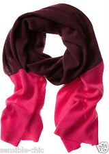 NWT Banana Republic 100% CASHMERE scarf wrap COLORBLOCK pink merlot $248