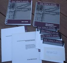 """Da Vinci eMail MSDOS 1.7b for IMB & 5 1/4"""" Disks & Users Guides & Working System"""