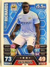Match Attax 2013/14 Premier League - #166 Micah Richards - Manchester City