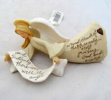 Enesco Foundations Country Primitive Flying Angel Christmas Ornament Karen Hahn