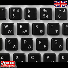 Italian Transparent Keyboard Stickers With White Letters For Laptop PC Computer