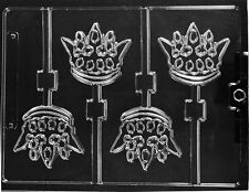 CROWN LOLLIPOP CHOCOLATE CANDY MOLD MOLDS BIRTHDAY PARTY FAVORS