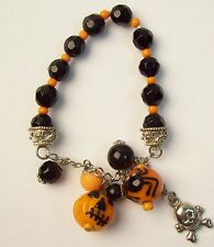 Cute HALLOWEEN Pumpkin & Spider Bracelet
