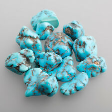 Turquoise Tumbled stone Splitter approx. 0 3/10-0 7/10in blue (57 + Showcase)